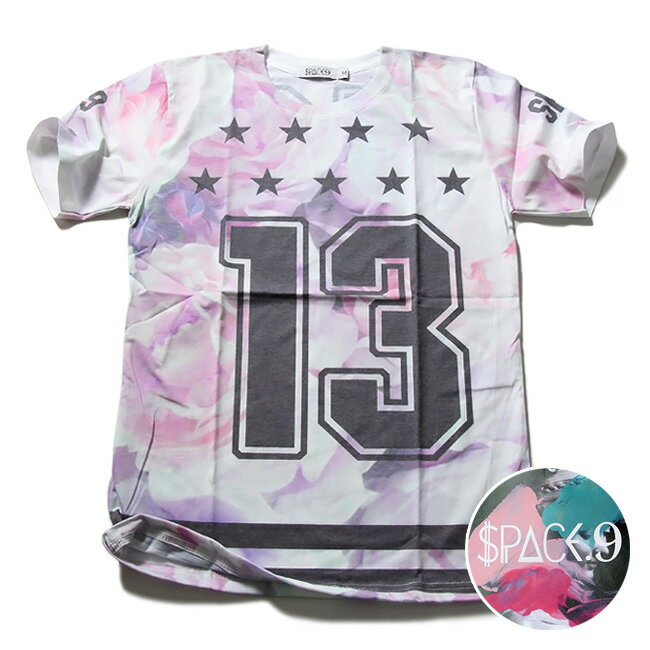 SPACE9 デザインTシャツ ROSE バラ 花柄 メンズ 夏用 コットン100% M-L【Tシャツ メンズ デザインTシャツ クラブファッション ストリート系 アニマルプリント 動物プリント】