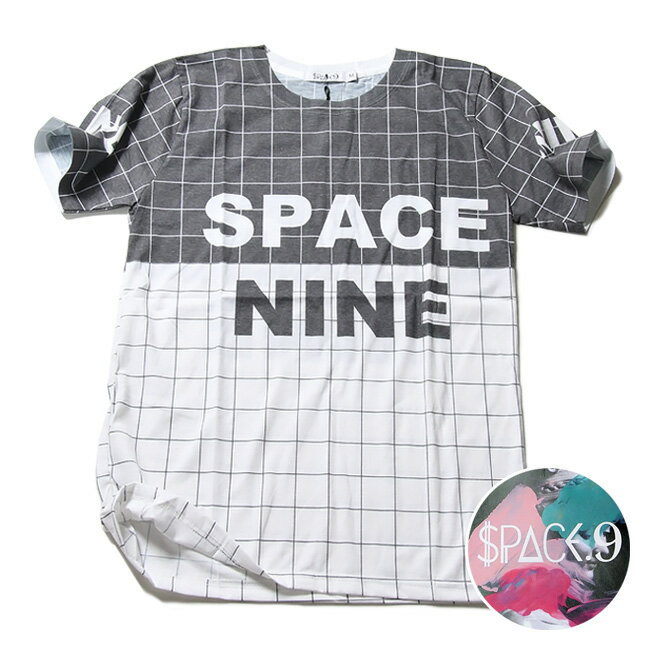 SPACE9 デザインTシャツ OTHELLO柄 黒白 メンズ 夏用 コットン100% M-L【グラフィックTシャツ メンズ デザインTシャツ クラブファッション ストリート系 アニマルプリント 動物プリント】