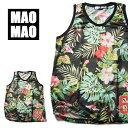 ボタニカル柄 メッシュバスケットシャツ メンズ ポリエステル100% 春夏用 S-Lメッシュバスケットシャツ メッシュ タン…