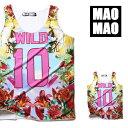 MAOMAO WILD 10 南国柄 バスケ タンクトップ メンズ レディース ゲームシャツ 総柄 デザイン 国旗 Tシャツ バスケシャ…