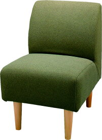 【送料無料 即納可能】アームレス型1人用ソファイス肘無しチェア天然杢ナチュラル脚一人用椅子モダン食卓チェアダイニング椅子カジュアル1人掛け椅子カバーが外せる1人掛けソファーパーソナルチェア北欧調カントリー緑色グリーンみどりミドリ肌触り良い布張りコンパクト