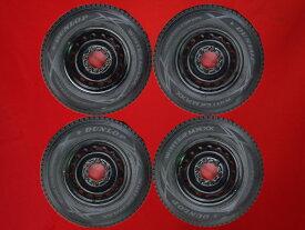 【1/15はポイント5倍以上確定!最大31倍★】ダンロップ ウィンター MAXX SV-01 DUNLOP WINTER MAXX SV01 195/80R15 107/105L ハイエース (200系)純正スチール(キャップ無) 6Jx15 +35 6/139.7 ブラック(黒色)系 ハイエースバン レジアスエース バン ハイエースコミューター ハ