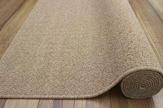 防音ウール3畳ラグラグマットカーペット防炎防災防汚絨毯じベージュアイボリーブラウン品名デネブ江戸間3畳3帖176×261m