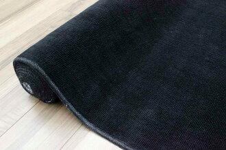カーペット防音6畳ラグ絨毯じゅうたん黒ブラックBK厚手丸巻き送料無料抗菌防臭六畳無地【品名防音ゼウス】江戸間6畳261×352cm