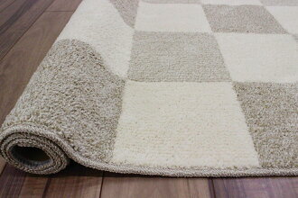 カーペット3畳ラグ絨毯じゅうたんラグマット日本製抗菌防臭リビング寝室子供部屋シンプルカジュアルチェック三畳送料無料【商品名ボードチェック】約3畳190×240cm