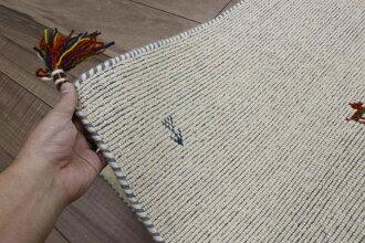 ギャベギャッベラグ玄関マットマット60×90ウール絨毯安い激安インドギャッペアウトレット【品名インドギャッベ】マット約60×90cm