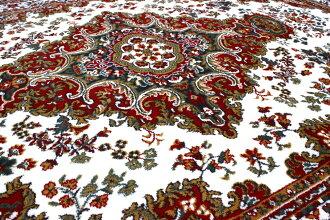 カーペット3畳ラグベルギー絨毯じゅうたんおしゃれ三畳3帖青水色ブルー黒ブラック安い激安【商品名SHIRAZ1670】約3畳160×230cm
