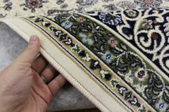 カーペット6畳ラグラグマット日本製抗菌防臭モケット織薄手アイボリーグリーン絨毯じゅうたん激安安いクラシックヨーロピアン送料無料【品名ポーロ】約6畳240×330cm