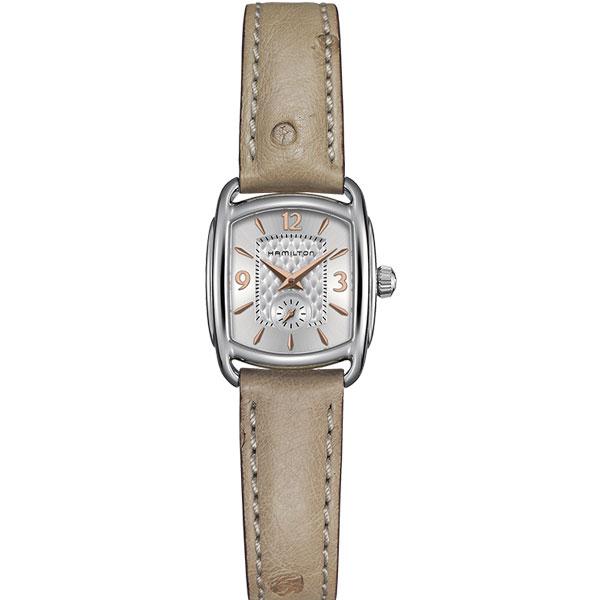 送料無料 HAMILTON ハミルトン 腕時計 LADY Bagley Quartz バグリークォーツ レディース H12351855 国内正規品 革ベルト ベージュ ピンクゴールド×シルバー 正規品 ギフト 誕生日 プレゼント 就職祝い氏 彼女 男性 女性 ラッピング