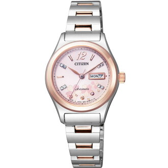 Citizen CITIZEN watch ladies limited edition model mechanical citizen collection automatic self-winding mechanical made in Japan PD7166-54X cherry blossom design limited model ladies watch watches limited waterproof crocodile leather replacement band wit