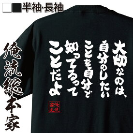 tシャツ メンズ 俺流 魂心Tシャツ【大切なのは、自分のしたいことを自分で知ってるってことだよ】漢字 文字 メッセージtシャツおもしろ雑貨 お笑いTシャツ おもしろtシャツ 文字tシャツ 面白いtシャスナフキン ムーミン アニメ