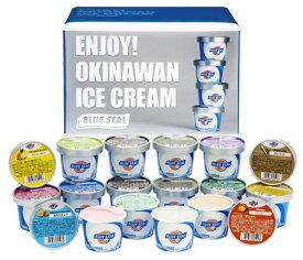 ギフトセット18 ブルーシールアイス アイスクリームギフト 詰め合わせ 18個セット アイス アイスクリーム ブルーシール お中元 塩ちんすこう 紅イモ ピスタチオ 送料無料 沖縄土産 内祝い ギフト 父の日 誕生日 バーベキュー キャンプ