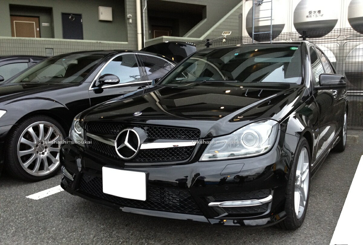 メルセデスベンツ Cクラス W204 SLスタイル フロントグリル 黒 (ブラック) C180 C200 C230 C250 C300
