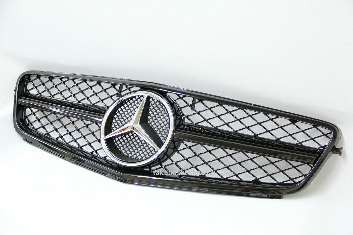 メルセデスベンツ Cクラス W204後期用 フロントグリル 黒 (ブラックアウト) C180 C200 C230 C250 C300