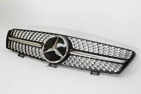 ベンツ CLSクラス W219 前期用ダイヤモンドタイプ フロントグリルVerDIS/黒 (ブラック)CLS350・CLS500・CLS550・CLS55AMG・CLS63AMG