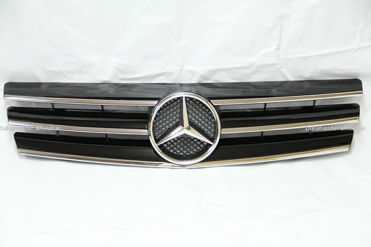メルセデスベンツ SLクラス R129 フロントグリル 3フィンスタイル ブラック 黒 SL320 SL500 SL600 500SL