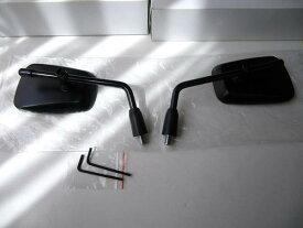 ★NEW AZタイプ BLACKスクエアー  アダプター付き 10mm正ネジ SET!【衝撃緩和構造】 *KAWASAKI