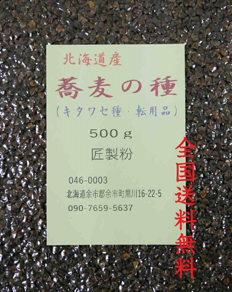 【厳選大粒】そばの種 30年北海道産【キタワセ種】500g