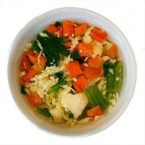 ほうれん草たっぷりでヘルシー『野菜たっぷりたまごスープ』(10食入り)フリーズドライ たまごスープ 保存食 非常食 備蓄