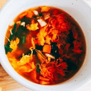 お手軽で低カロリー『キムチたまごスープ』(10食入り)フリーズドライ たまごスープ 保存食 非常食 備蓄 ダイエット ダイエットスープ 簡単 お手軽 インスタント 朝食 夜食