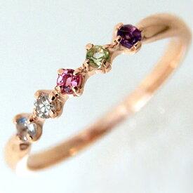 【お見積り商品】指輪 1.5mm 天然石 レディース K10 天然石が選べるアミュレットリング 誕生石 ニッケルフリー 10金 ゴールド 地金カラー全3色 1号から20号 yk-37 お返し