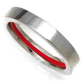 縁結び 純チタンリング 運命の赤い糸 レッドライン アレルギーフリー 即納 レディース メンズ マリッジリング 結婚指輪 金属アレルギー ジュエリー titan99.8% 大きいサイズ 太い es-ti04 (増税前) (e)