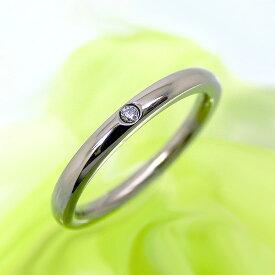 純チタンリング 天然ダイヤモンド 指輪 1本 単品 刻印無料 アレルギーフリー 即納 レディース マリッジリング 結婚指輪 金属アレルギー ジュエリー es-ti05-1 天然石 大きいサイズ 太い ペアリング お返し