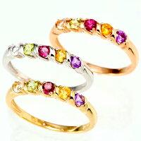 5色の誕生石で選べる指輪選べるK10/10金ピンクゴールドPGホワイトゴールドWGイエローゴールドYGリング指輪誕生日プレゼントyk-169オーダーメイド【楽フェス_ポイント5倍】