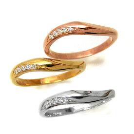 【セミオーダー】ダイヤモンドリング K10 結婚 指輪 リング 1号から29号 yk305 レディース(t911) (yk304set)0.05ct 入学 祝い お返し 春
