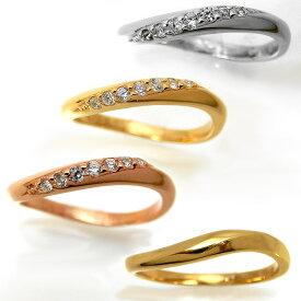【2本セット】ペアリング マリッジリング 結婚指輪 レディース メンズ ニッケルフリー 10金 ダイヤモンド 1号から29号yk311 yk307 (yk307set) お返し