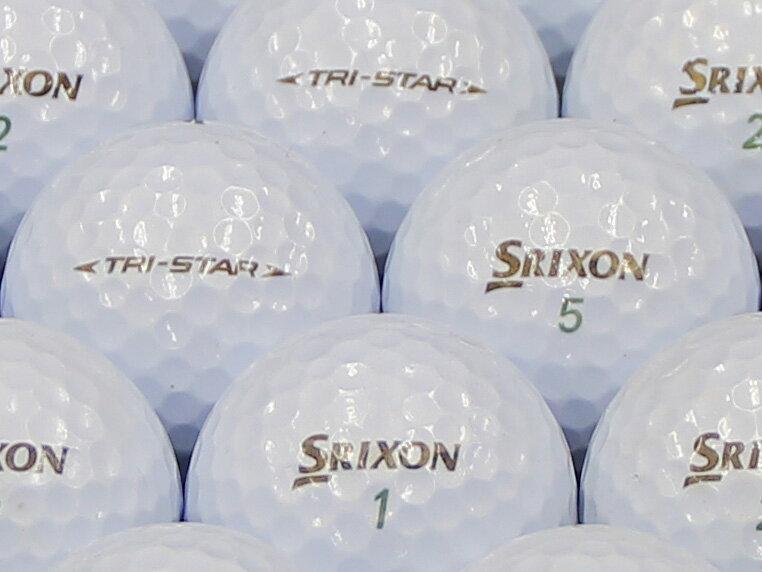 【ABランク】【ロゴなし】スリクソン TRI-STAR 2014年モデル プレミアムホワイト 30個セット 【あす楽】【ロストボール】【中古】