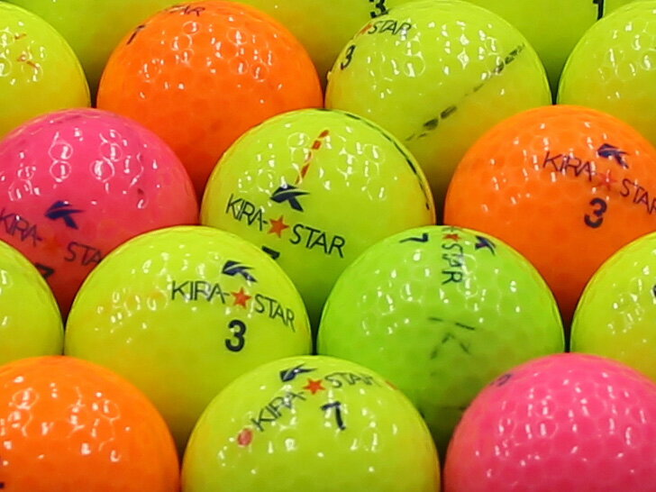 【AB落書き】キャスコ KIRA★STAR 2010年モデル カラー混合 1個 【あす楽】【ロストボール】【中古】