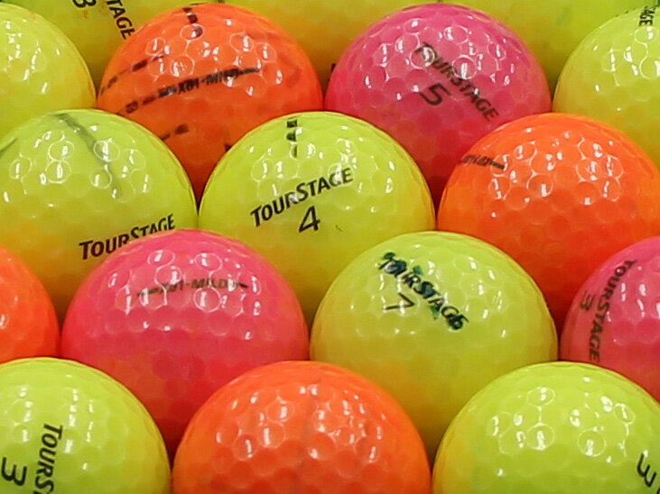 【AB落書き】ツアーステージ X01-MILD カラーボール混合 1個 【あす楽】【ロストボール】【中古】