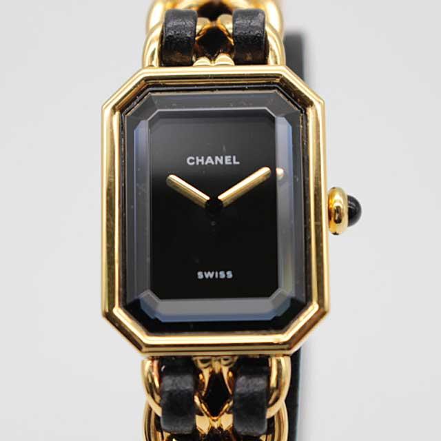 【CHANEL】シャネル プルミエール サイズM レディースクオーツ 腕時計 ゴールド【中古】
