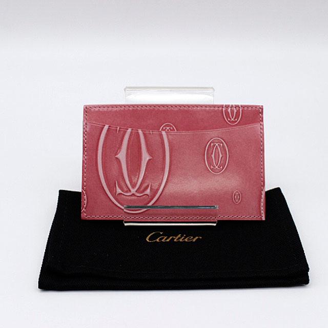 【Cartier】カルティエ ハッピー バースデイ シングルカードホルダーCRL3001477/ピンク【新品・未使用】