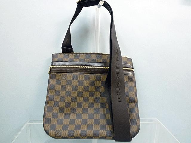 【LOUIS VUITTON】ルイヴィトン  ダミエ ポシェット・ボスフォール バッグ N51111【中古】