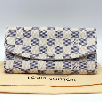 【LOUIS VUITTON】 ルイ・ヴィトン ダミエアズール ポルトフォイユエミリーN63546【中古】