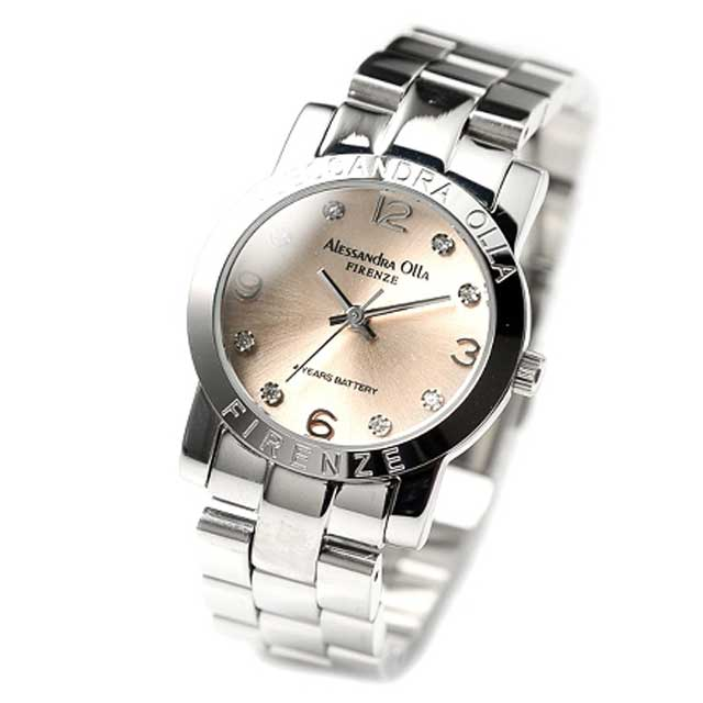 Alessandra Olla(アレッサンドラ オーラ) レディース腕時計 AO-715 ピンクゴールド 新品