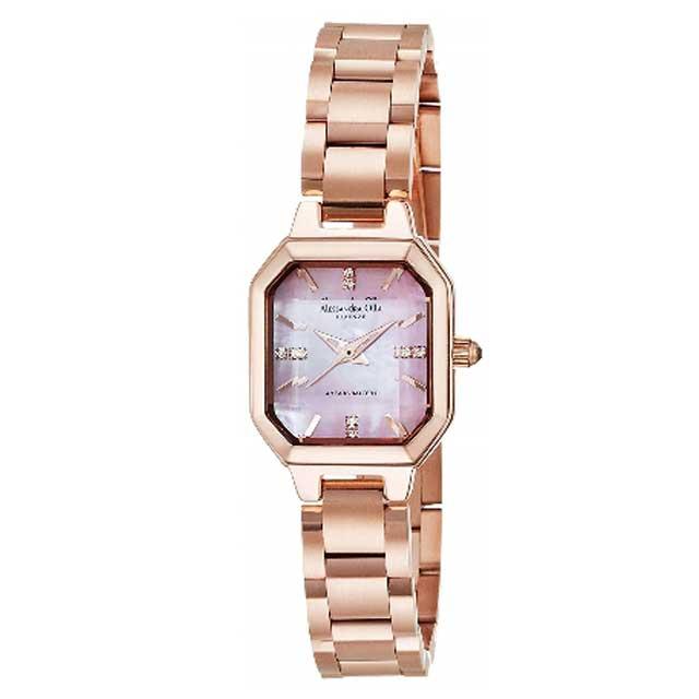 Alessandra Olla/アレサンドラオーラカットガラス レディース腕時計ピンクゴールド×ピンクシェル AO-3550-2 新品