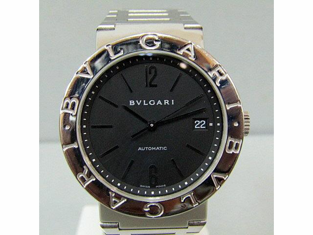 ★【BVLGARI】ブルガリ ブルガリブルガリオート メンズ腕時計黒文字盤/BB38SS【中古】送料無料