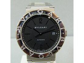 【BVLGARI】ブルガリ ブルガリブルガリオート メンズ腕時計黒文字盤/BB38SS【中古】送料無料