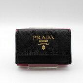 【PRADA】プラダSAFFIANOMULTIC財布1MH021/NERO+IBISCO【新品・未使用】