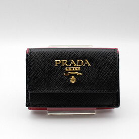 【PRADA】プラダ  SAFFIANO MULTIC 財布1MH021/NERO+IBISCO 【新品・未使用】