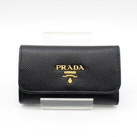 【PRADA】プラダSAFFIANO METAL キーケース6本用1PG222/NERO 【中古】