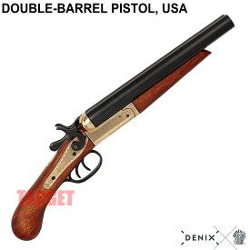 DENIX ダブルバレルピストル ゴールド アメリカ 1113 (デニックス ソードオフショットガン USA レプリカ)