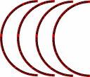 汎用 ホイールリムラインステッカー 18インチ 赤/黒