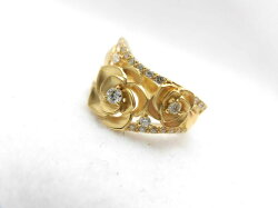K18ダイヤローズリング/ダイヤ0.23ct/G850/ダイヤモンドリング/指輪/ゆびわ/ring/ジュエリー/ダイヤ/女性用/レディース/プレゼント/ギフト/お買い得/オススメ/送料込み/宝石