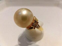 K18南洋真珠ダイヤモンド/パール12.7mmD0.06ct/2118/リング/指輪/ゆびわ/ring/ジュエリー/女性用/レディース/プレゼント/ギフト/お買い得/オススメ/送料込み/宝石