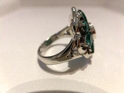PTエメラルドダイヤリングF7267/E3.01ctD0.06ct/ダイヤモンドリング/指輪/ゆびわ/ring/ジュエリー/ダイヤ/女性用/レディース/プレゼント/ギフト/お買い得/オススメ/送料込み/宝石