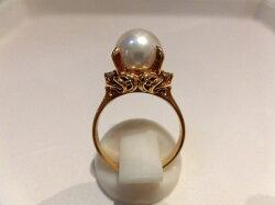 K18パールダイヤモンド/パール9mmD0.08ct/B9550.B9771/リング/指輪/ゆびわ/ring/ジュエリー/女性用/レディース/プレゼント/ギフト/お買い得/オススメ/送料込み/宝石